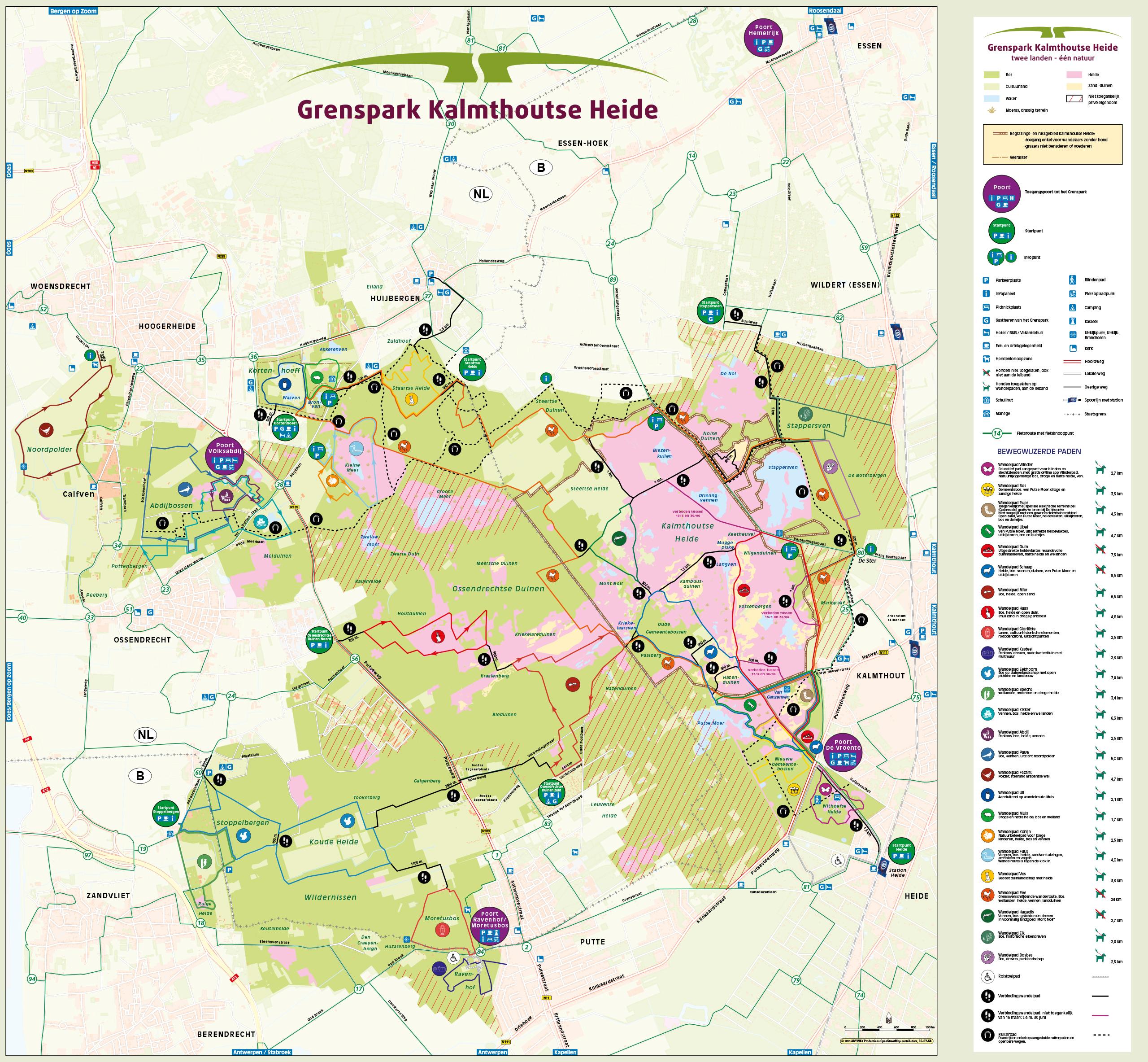 Wandelroutes - Grenspark Kalmthoutse Heide